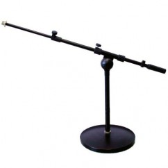Adam Hall - Microphone Stand with round Base and Boom Arm