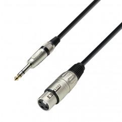 Adam Hall - K3BFV0100 - Câble Micro XLR femelle vers Jack 6,35 mm stéréo - 1.00 m