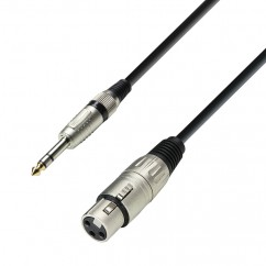 Adam Hall - K3BFV0600 - Microphone Cable XLR female to 6.3 mm Jack stereo - 6.00 m